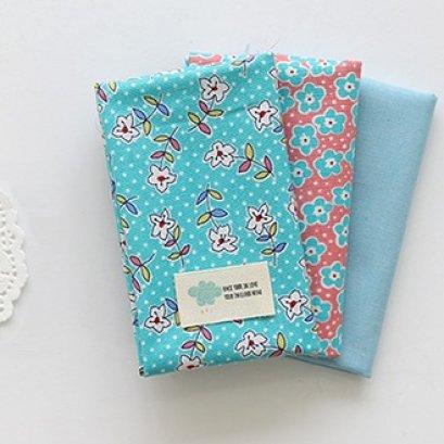 ผ้า cotton เกาหลี เซท 3 ชิ้น  ขนาด 27.5 x 45 cm.