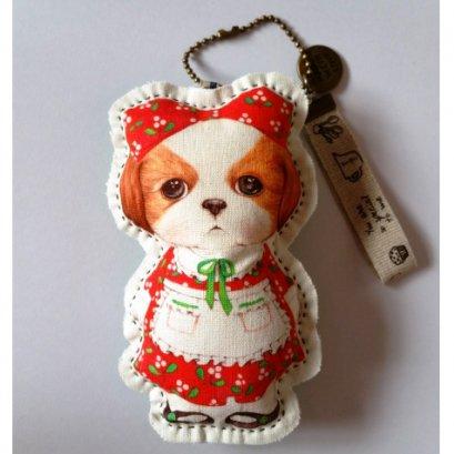 พวงกุญแจตุ๊กตาน้องหมา พร้อมสายโซ่ สูงขนาด 13 cm.