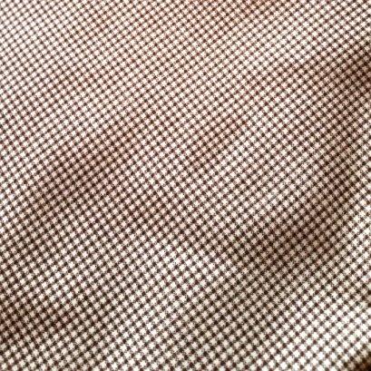 ผ้า cotton ไทย ลายสก๊อตตาเล็ก น้ำตาล  ขนาด 1/4 เมตร (50*55 ซม.)