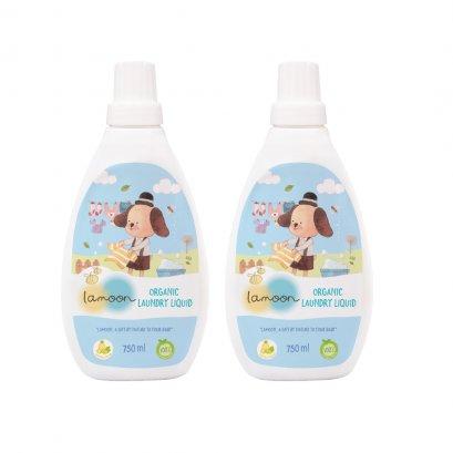 ละมุน ผลิตภัณฑ์ น้ำยาซักผ้าเด็ก ออร์แกนิค 750 มล.(Pack 2)