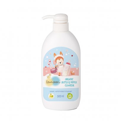 Lamoon Organic Nipple & Bottle Cleanser 500 ml.