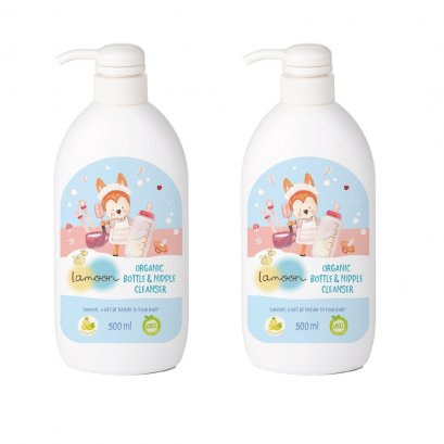 Lamoon Organic Nipple & Bottle Cleanser 500 ml.(Pack 2)