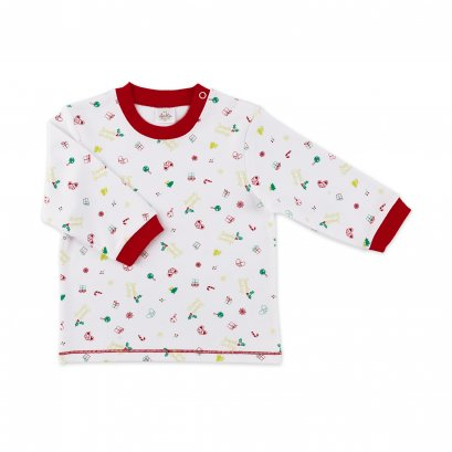 Auka Infant and Todddler Long-sleeved Open shoulder T-shirt