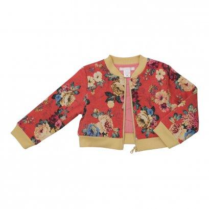 Dolce Orsetto เสื้อแจ๊คเกตหญิง Bomber Jacket - สีแดง