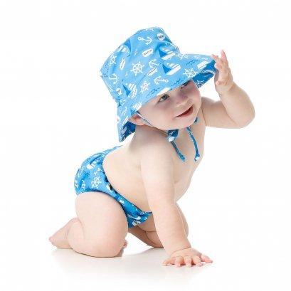 Bumkins Swim diaper and Hat age - Ahoy