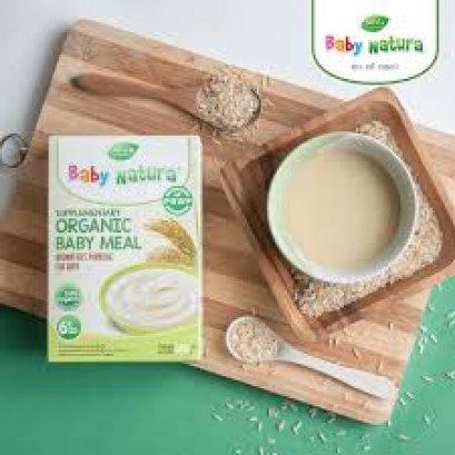 Baby Natura อาหารเสริมออร์แกนิกสำหรับทารกและเด็กเล็กอายุ 6 เดือนถึง 3 ปี สูตรข้าวกล้องออแกนิก 120 กรัม