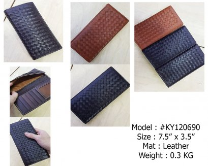 #KY120 Leather Wallet