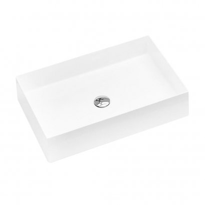 INDA Triangle counter top washbasin Synthetic stone 58 cm.
