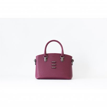 DEAR - STRUCTURED HANDBAG DARK MAROON
