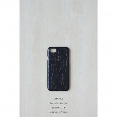 Leather case for Iphone 7/8 (Shining Black)