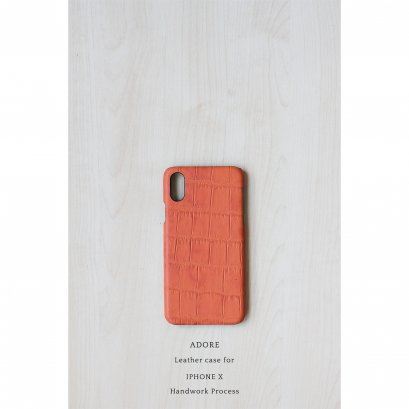 Leather case for Iphone X (Juicy Orange)