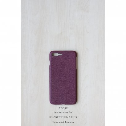 Leather case for Iphone 7 PLUS /8PLUS (Dark Maroon)