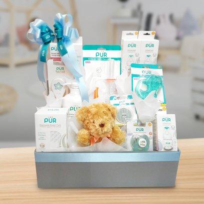 """เซตของขวัญ สำหรับเด็กแรกเกิด """"Welcome Baby(**จัดส่งเฉพาะใน กทม. ค่าจัดส่งคิดตามระยะทาง/จัดส่งฟรี ในระยะ 10 กม. รับสินค้าจากโซนสุขุมวิท**)"""