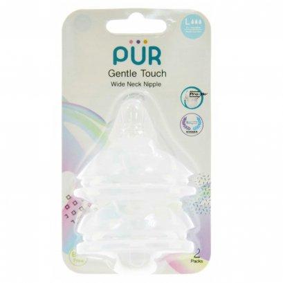 จุกนม รุ่ม Gentle Touch คอกว้าง ขนาดใหญ่ สำหรับเด็ก 6 เดือนขึ้นไป แพ็ค 2 ชิ้น