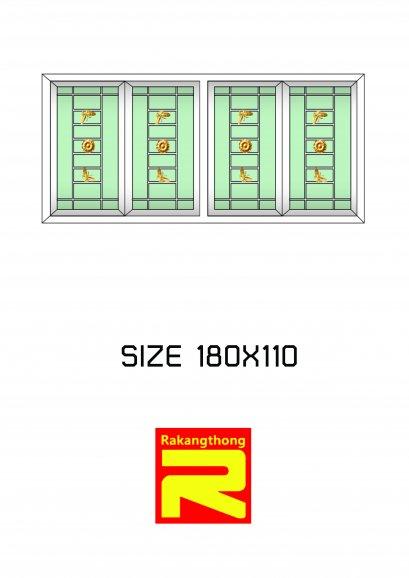 หน้าต่างบานเลื่อน 4 ช่อง