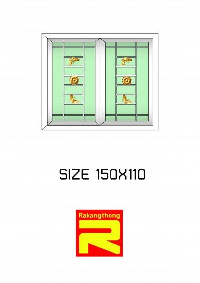 หน้าต่างบานเลื่อน 2 ช่อง