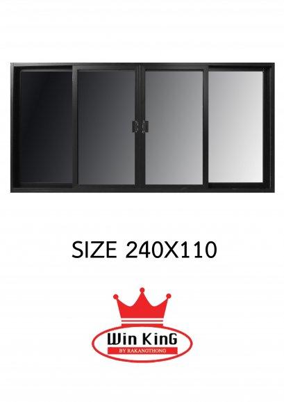 หน้าต่างบานเลื่อนอลูมิเนียมสีดำ