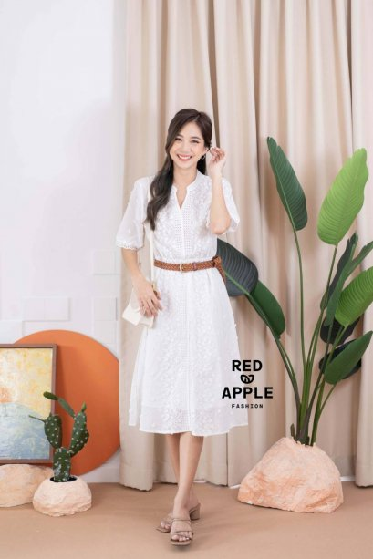 Cotton Lace Dress Code 8803