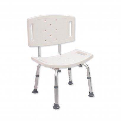 เก้าอี้อาบน้ำผู้สูงอายุ เก้าอี้อาบน้ำมีพนักพิงหลัง ปรับระดับได้