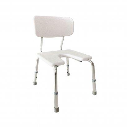 เก้าอี้อาบน้ำผู้สูงอายุ เก้าอี้อาบน้ำมีพนักพิง แบบเว้า ปรับระดับได้