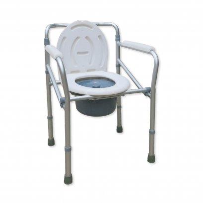 เก้าอี้นั่งถ่าย อลูมิเนียม พับได้ ปรับระดับความสูงได้