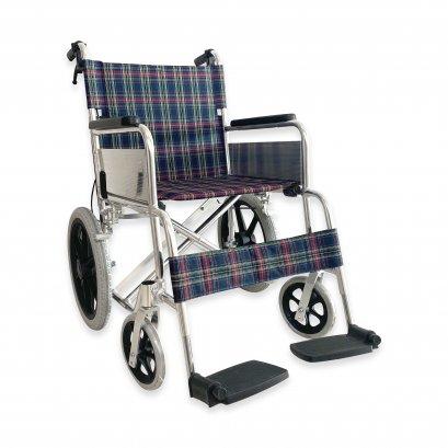 รถเข็นผู้ป่วย วีลแชร์ (Wheelchair) อลูมิเนียมอัลลอยด์ ล้อเล็กยางตัน