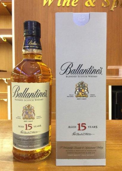 วิสกี้ สกอตแลนด์-Ballantine's Aged 15 Years 70cl