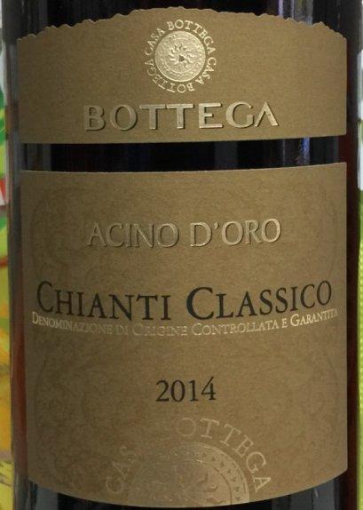 Bottega Acino D'oro Chianti Classico 2014