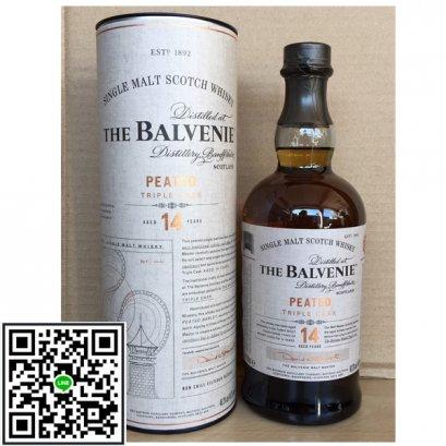 ซิงเกิลมอลต์ วิสกี้-Balvenie 14 Year Old Peated Triple cask 70cl