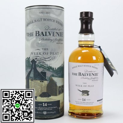 ซิงเกิลมอลต์ วิสกี้-Balvenie 14 Year Old - The Week of Peat 70cl (48.3%)