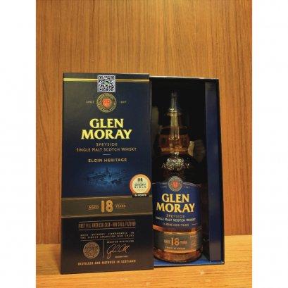 ซิงเกิลมอลต์ วิสกี้-Glen Moray 18 Year Old 70cl 47.2%