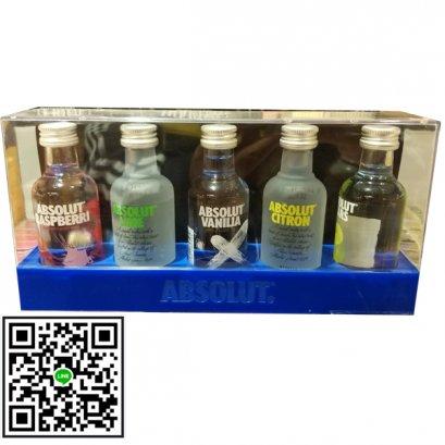 วอดก้า-Absolut Flavoured Vodka Gift Pack, (5 ขวด) 50ml