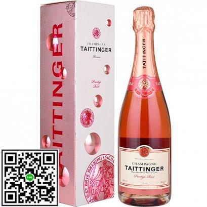 แชมเปญ-Taittinger Prestige Rose (12 ขวด) 1-ลัง