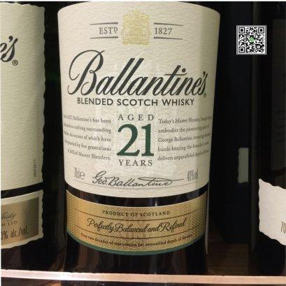 วิสกี้ สกอตแลนด์-Ballantine's Aged 21 Years 70cl