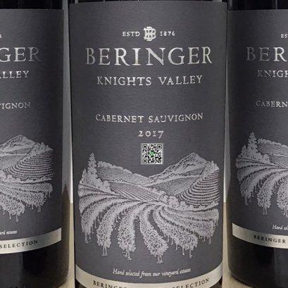 ไวน์แดงจาก สหรัฐอเมริกา-Beringer Knights Valley Cabernet Sauvignon 2017 (12 ขวด)1-ลัง