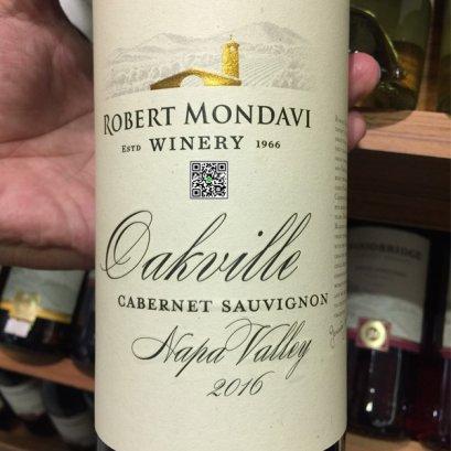 ไวน์แดงจากแคลิฟอร์เนีย-Robert Mondavi Oakville Cabernet Sauvignon 2016  12 ขวดลัง
