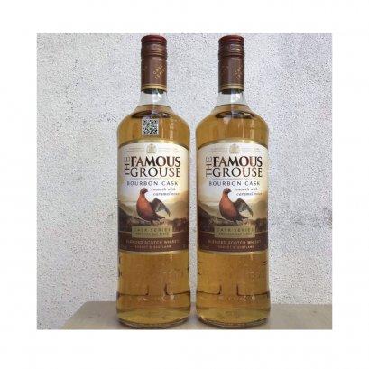 เหล้าวิสกี้ สกอตแลนด์- Famous Grouse Bourbon Cask 1L (12 ขวด) 1-ลัง