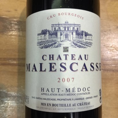 Chateau Malescasse Haut Medoc 2007