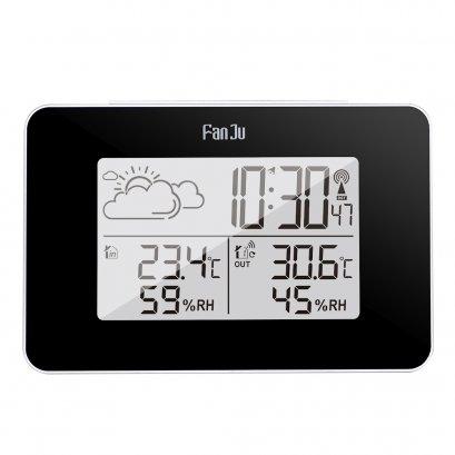 นาฬิกาเซนเซอร์ ไฮโกรมิเตอร์วัดอุณหภูมิไร้สาย (Wireless weather station digital clock)