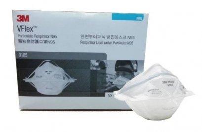 หน้ากากป้องกันฝุ่นละออง N95 รุ่น 9105