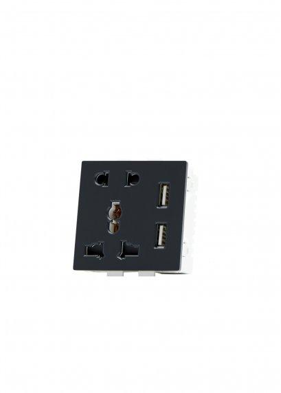 2-Pin & Universal Socket & Dual USB