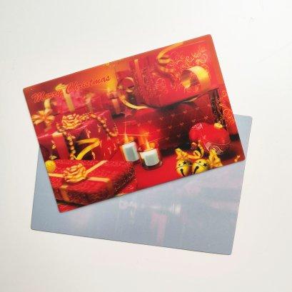 2019 New Custom design 3D Gift Card Printing 3D Lenticular Merry Christmas postcard