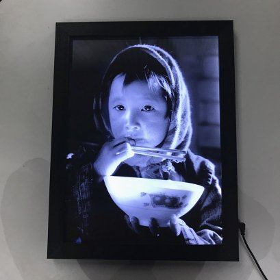 3D effect LED lighted frame / LED 3D lightbox with lenticular picture