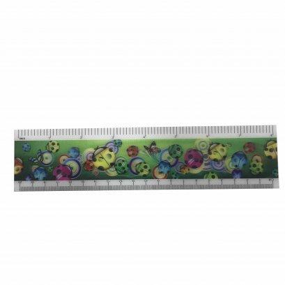 3d promotional plastic lenticular ruler PET material ruler