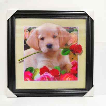 5d lenticular printing picture of dog