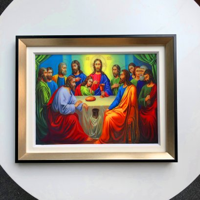 Beautiful Pictures Famous 3D lenticular picture wall art for The Last Supper