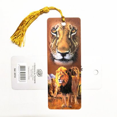 Customize animal lenticular bookmark of tiger with tassel