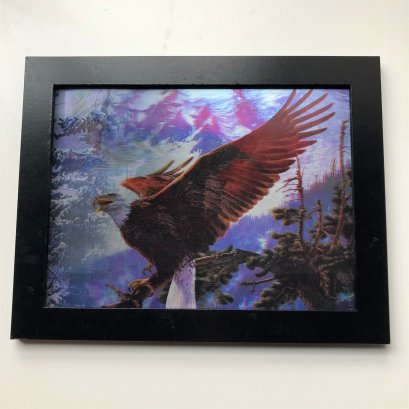 Flip effect lenticular picture motion lenticular poster 3d animal picture of bird