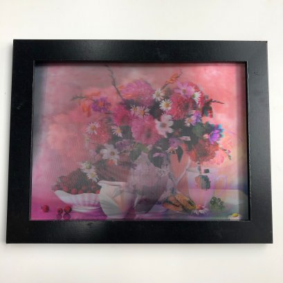 Frame 3d picture China for home of beautiful flowers