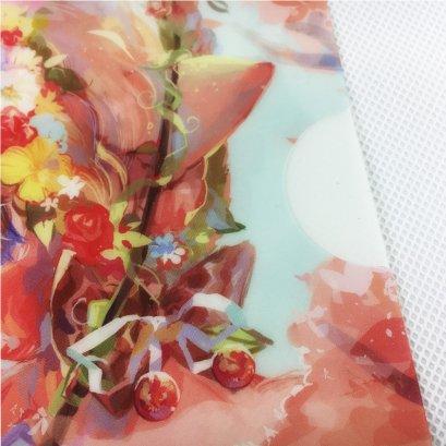 High Quality Cheap Custom Design Plastic A4 L Shape 3D Lenticular PP File Folder
